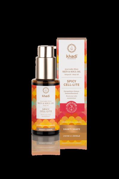 khadi Ayurvedisches Elixier Skin & Soul Oil SPICY CELL-LITE