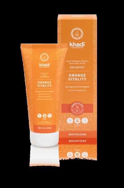 khadi Ayurvedisches Elixier Shampoo Orange Vitality