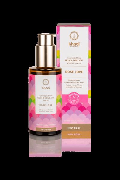 khadi Ayurvedisches Elixier Skin & Soul Oil ROSE LOVE